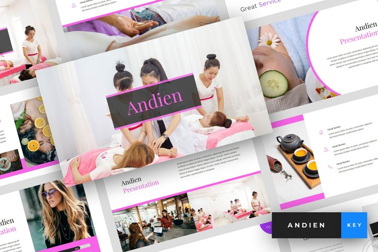 Andien - Spa & Beauty Keynote Template example image 1