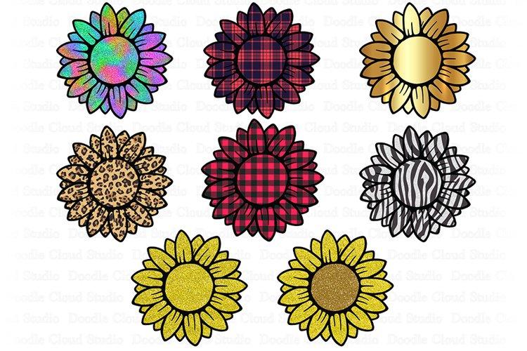 Sunflower PNG Bundle, Design Printable, Sunflower Clipart, example image 1