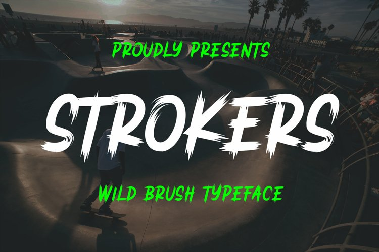 Strokers - Wild Brush Typeface example image 1