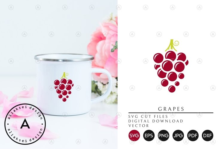 Red Grapes SVG example image 1