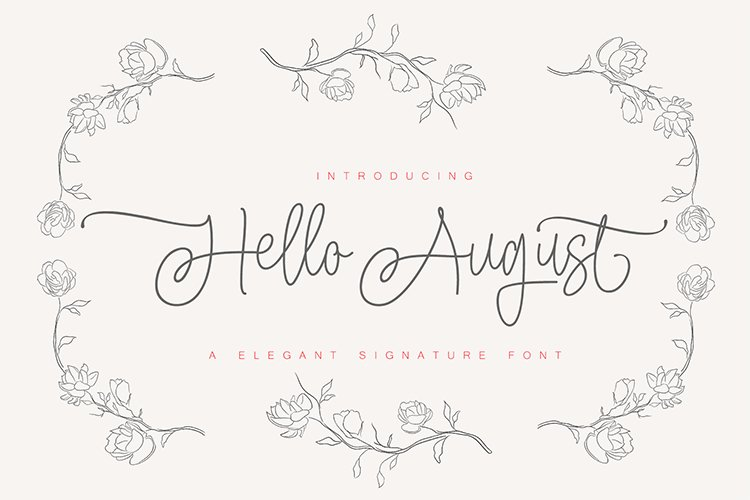 Hello August Duo example image 1