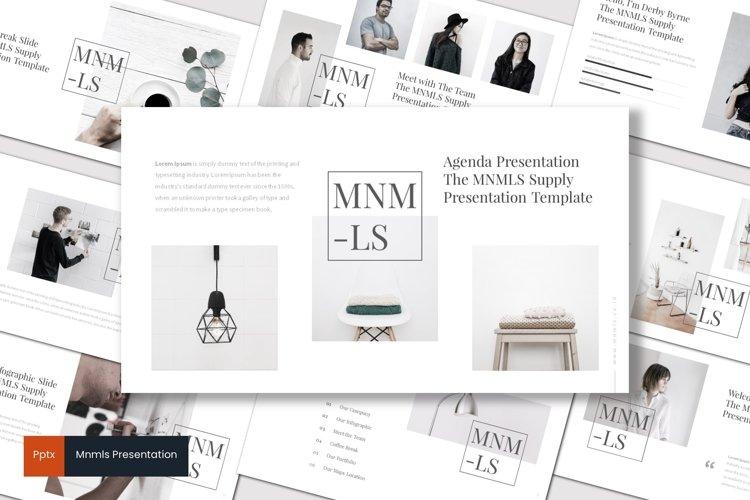 Mnmls - Powerpoint Template example image 1