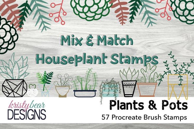 Procreate Brushes - Houseplant Stamps