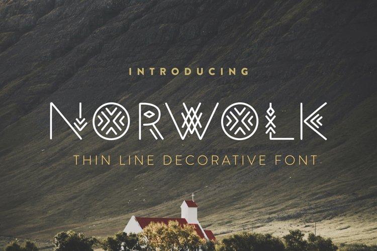 Norwolk - Thin Line Decorative Font example image 1