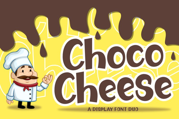 Choco Cheese | A Quirky Font Duo example image 1