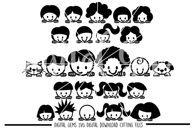Peek a boo People SVG / DXF / EPS / PNG Files