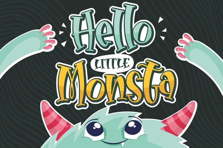 Hello Little Monsta example image 1