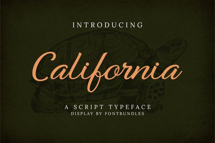 Web Font California example image 1