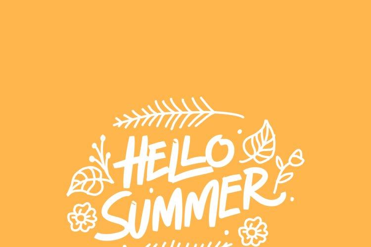 Hello Summer Typography example image 1