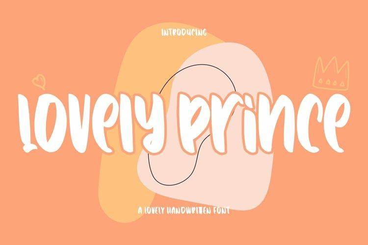 Web Font Lovely Prince - Lovely Handwritten Font example image 1