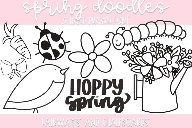 Spring Doodle Font | Doodle Font