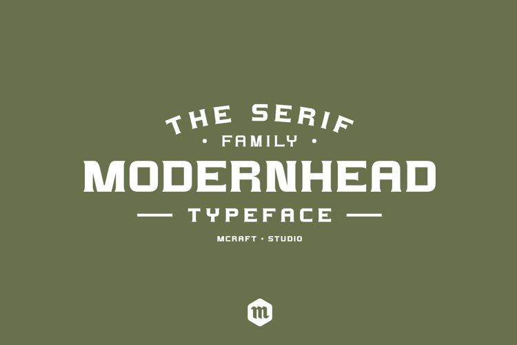 Modernhead Serif Typeface | Font example image 1