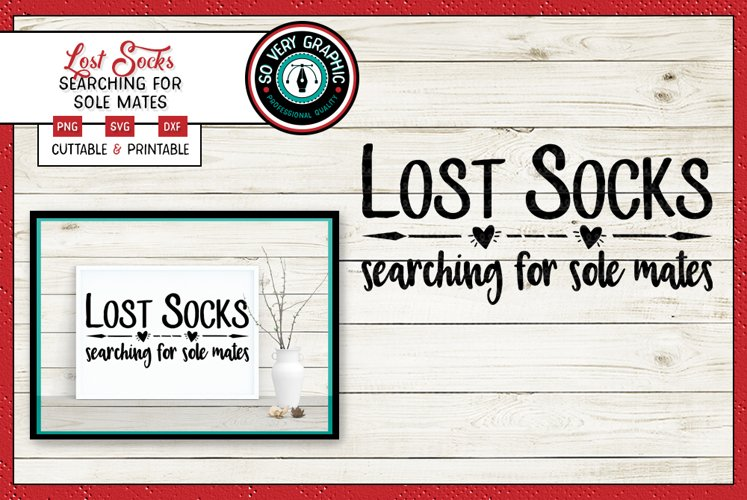 Lost Socks Searching for Sole Mates | SVG | PNG | Cut Print
