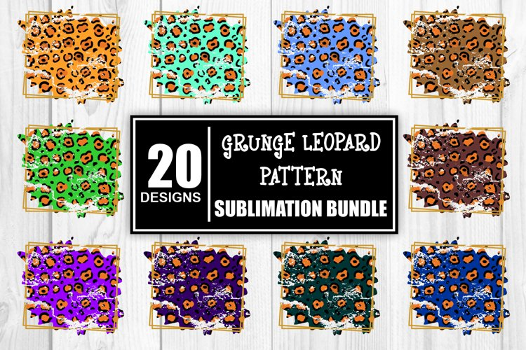 Leopard Print Leopard Pattern Sublimation Distressed Bundle