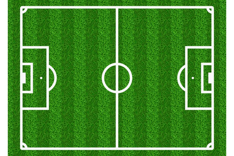 European football, soccer vector field example image 1