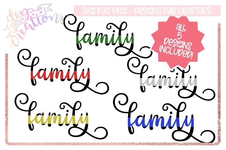 Family Thin Line - cut file for crafters