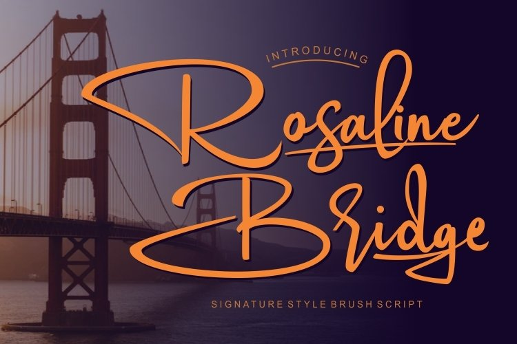 Rosaline Bridge Signature Style font