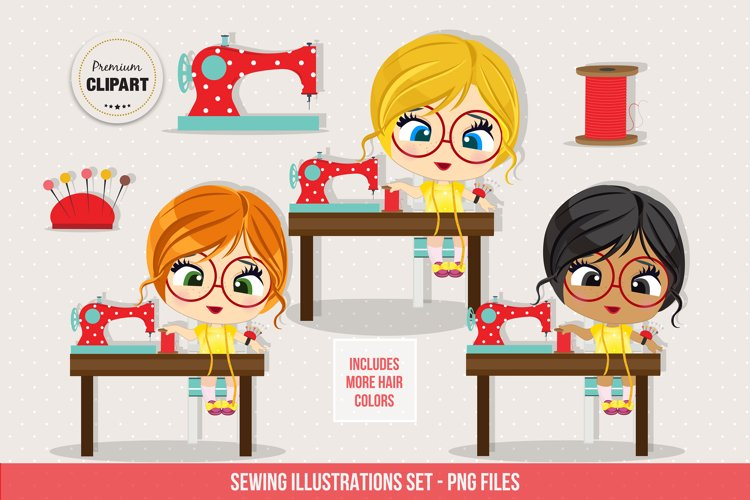 Sewing graphics, Sewing clipart example image 1