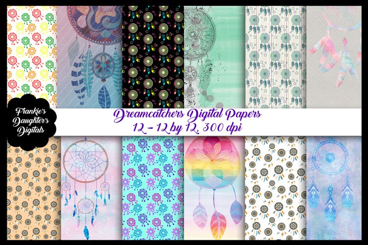 Dreamcatchers Digital Papers example image 1