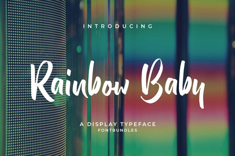 Web Font Rainbow Baby example image 1
