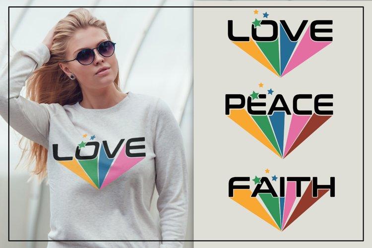 Love, peace, faith words