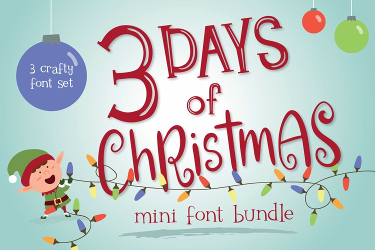Mini Font Bundle - 3 Days of Christmas example image 1