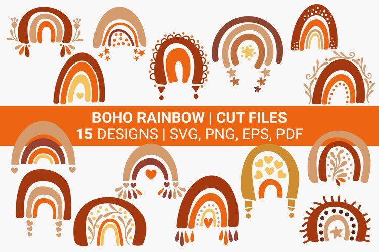 Boho Rainbow SVG Bundle, 15 Boho Rainbow Clipart