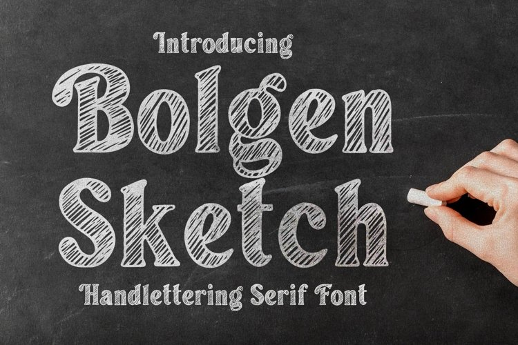 Bolgen Handlettering Serif font example image 1