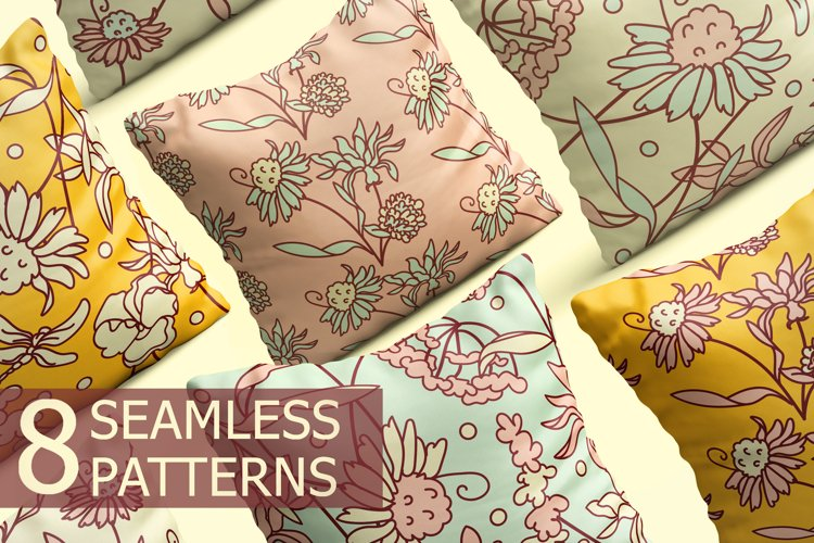Seamless patterns Spring mood