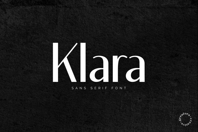KLARA Elegant Sans Serif Font example image 1