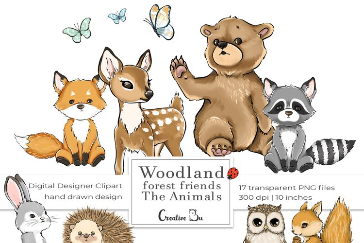 Woodland Forest Friends - The Animals - Clipart