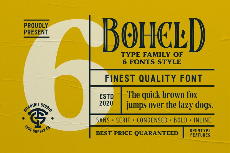 Boheld Font Collection example image 1