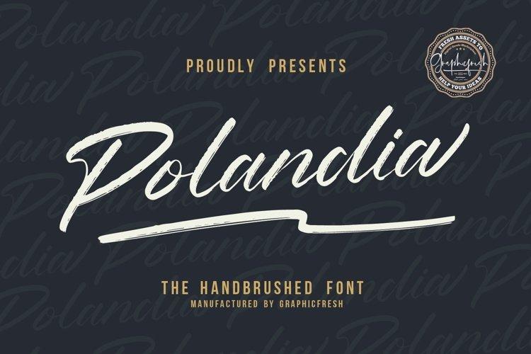 Polandia - The Handbrushed Font example image 1