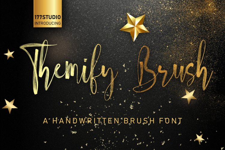 Themify Brush Font example image 1