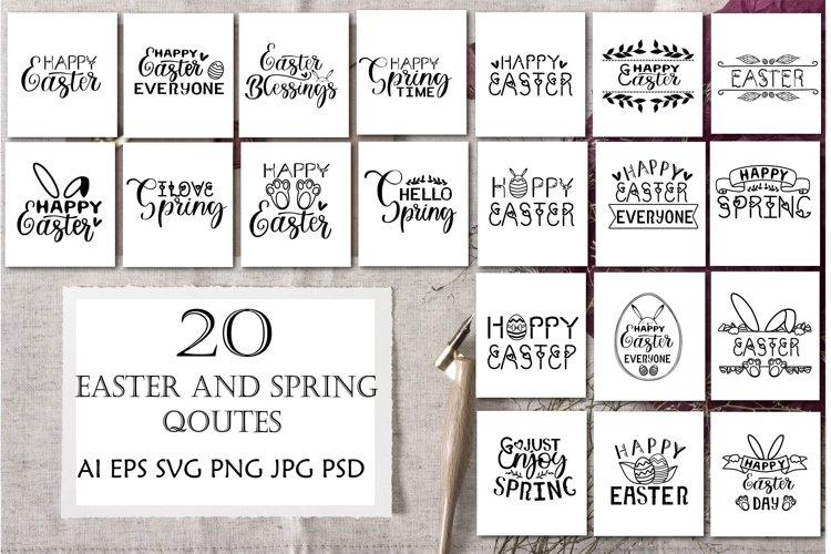 Easter SVG Bundle .Spring SVG Quotes . Easter Cut Files