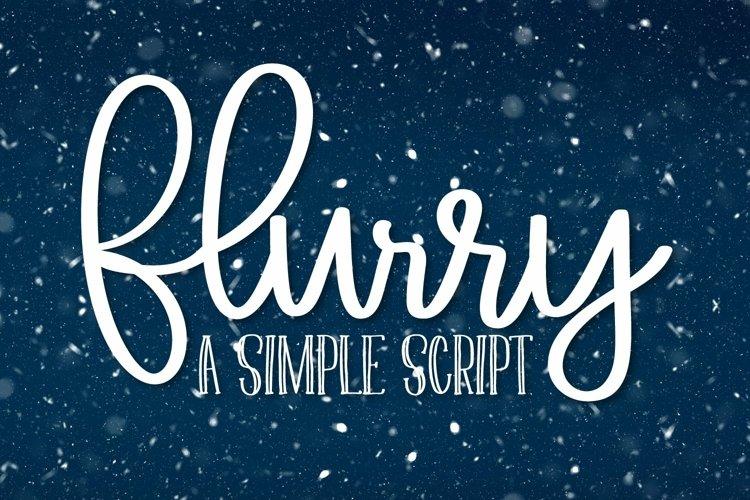 Web Font Flurry - A Simple Clean Script Font example image 1