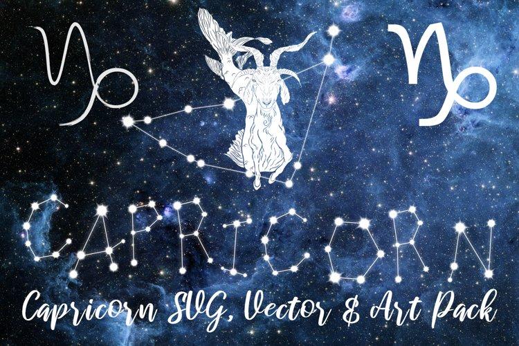 Capricorn Zodiac, Constellation, Horoscope, Celestial Pack example image 1