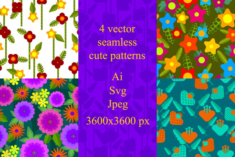 Just cute floral patterns