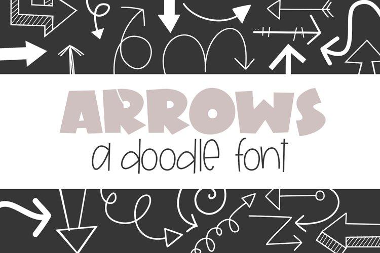 Arrows - A Doodle Font example image 1