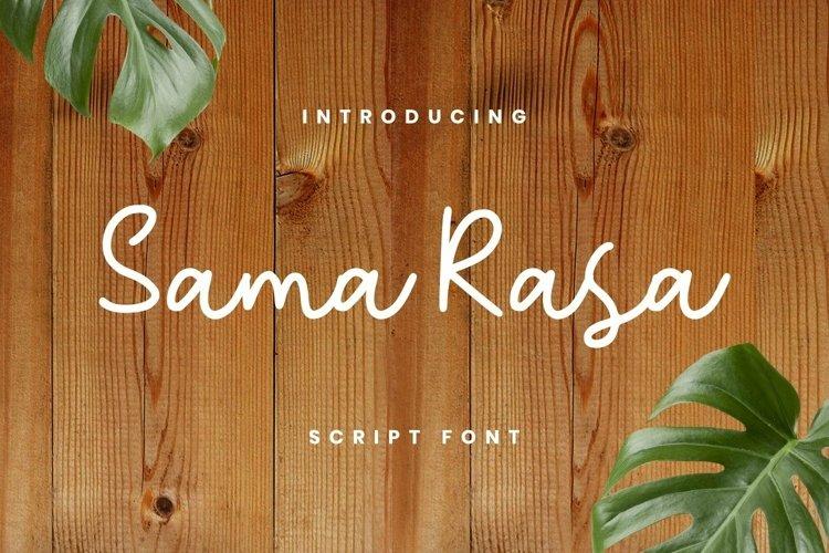 Web Font Sama Rasa Font example image 1