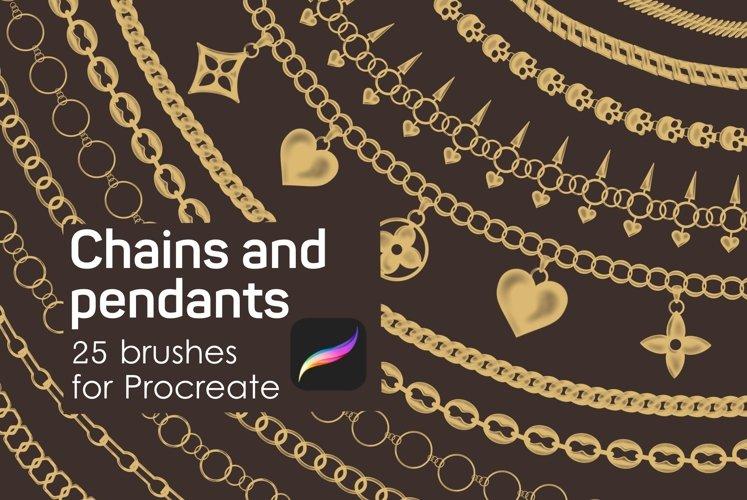 Chains & pendants Procreate brushes example image 1