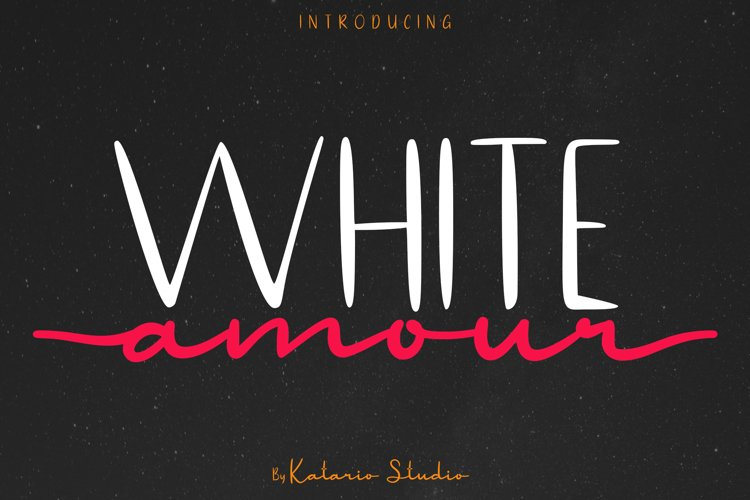 White Amour | Lovely Font Duo San Serif and Script example image 1