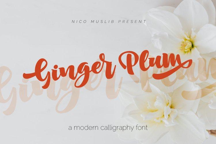 Ginger Plum Script example image 1