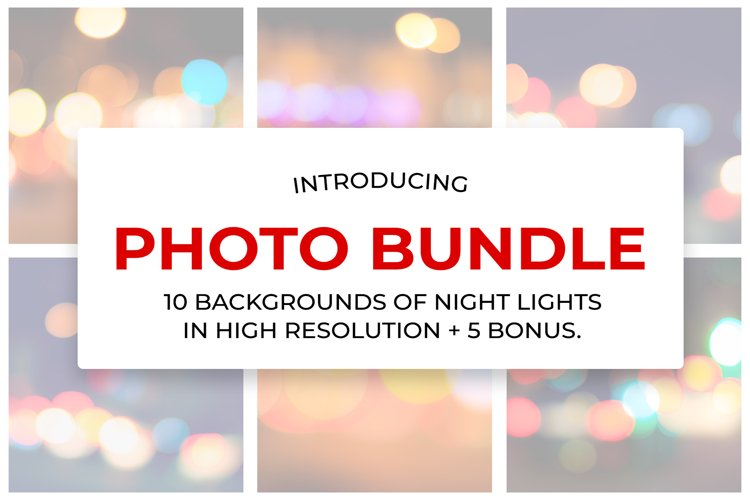 10 backgrounds of night lights in high resolution.