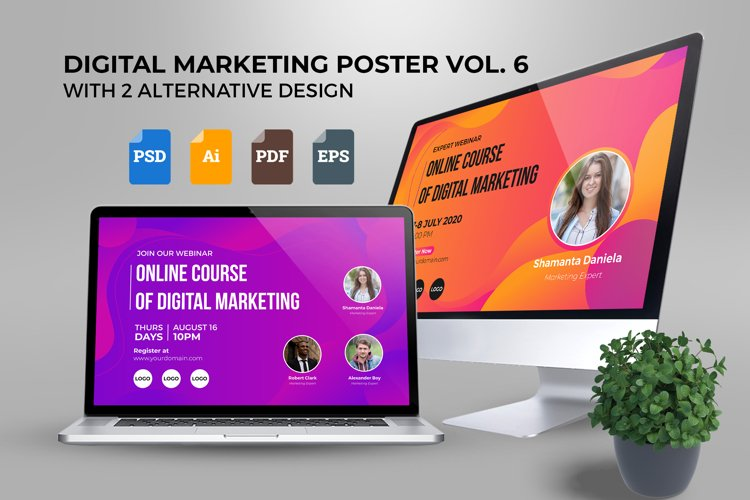 Webinar Digital Marketing Poster Template Vol. 06 example image 1