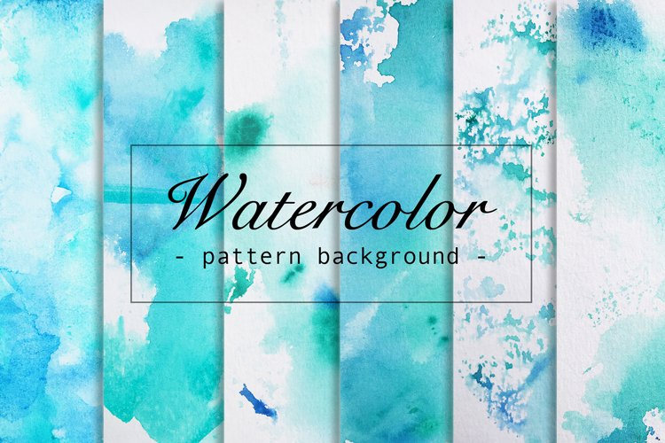 6 Watercolor paper seamless Patterns