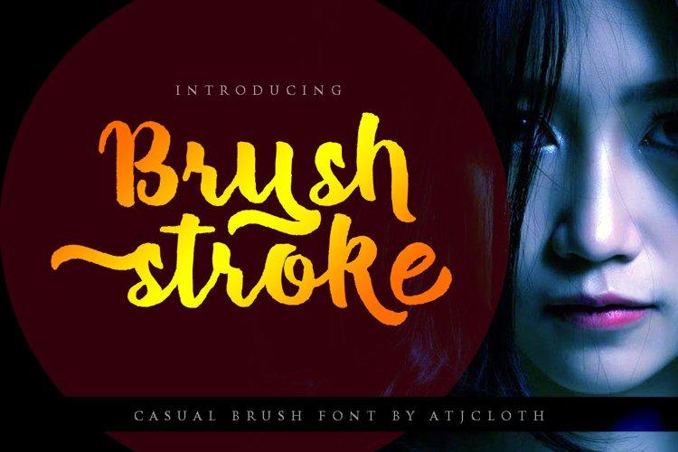 Brush Stroke Bonus Font