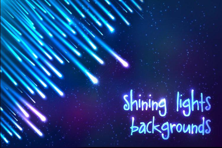 6 shining cosmic lights backgrounds