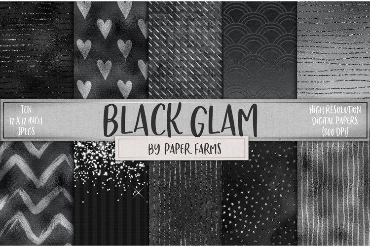Black glam backgrounds example image 1