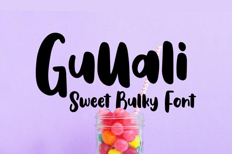 Gullali - Sweet Bulky Font example image 1